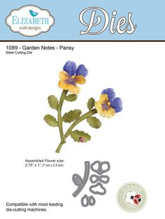 GARDEN NOTES - Pansy (1089) 5 piece set