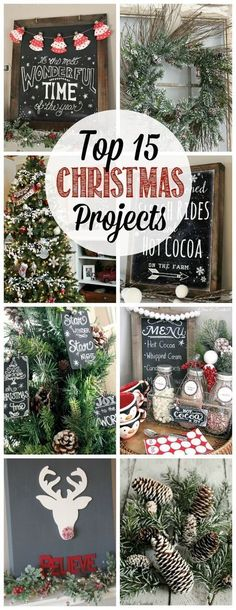 15 Christmas Projects Great collection of Christmas projects - Christmas crafts, fun food recipes, and holiday home decor ideas.Great collection of Christmas projects - Christmas crafts, fun food recipes, and holiday home decor ideas. Merry Little Christmas, Noel Christmas, Rustic Christmas, Winter Christmas, Christmas Wreaths, Christmas Ornaments, Christmas Ideas, Diy Christmas Projects, Holiday Ideas