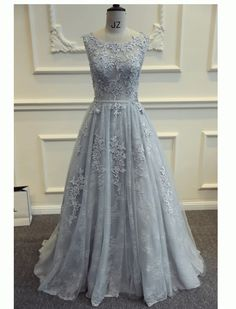 Floral Lace Long Prom Vintage Style Evening Dress