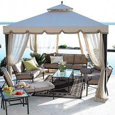 Ideas Backyard Patio Canopy Gazebo For 2019 Gazebo Tent, Canopy Design, Outdoor Living Design, Brick Decor, Canopy Bedroom, Gazebo Replacement Canopy, Backyard Canopy, Canopy Tent
