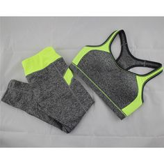B.BANG New Women's Casual Sets Seamless Bra Top and Elastic Capris Fashion Patchwork Suits 1 Set