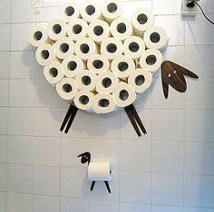 Mobiletti bagno - Stoccaggio e carta igienica portarotolo - un prodotto unico di Antonina-Glezer su DaWanda