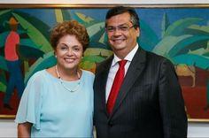 Dilma Rousseff e Flávio Dino