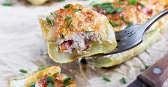 Recette de Courgettes légères farcies au fromage frais et jambon de Parme. Facile et rapide à réaliser, goûteuse et diététique.
