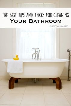Mommy Envy Spring Cleaning Series. The best tips for cleaning the bathroom. From the countertops to the shower. Great cleaning ideas! Found on mommyenvy.com