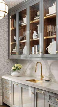 20 Magnificient Pantry Interior Design Ideas For Home Pantry Interior, Kitchen Interior, Kitchen Decor, Kitchen Hutch, Kitchen Ideas, Kitchen Wood, Island Kitchen, Kitchen Butlers Pantry, Kitchen Inspiration