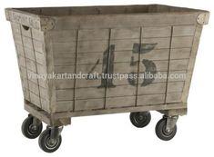 antique industrial on wheels | Vintage Industrial Laundry Basket With Cart Wheels - Buy Vintage ...basement