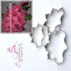 Azalea petal flower cutter, for cold porcelain and gum paste