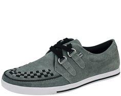 TUK Gray Suede 2-Ring Rocker Sneaker #creepers www.drstrange.com