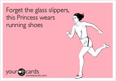 Forget the glass slippers, this Princess wears running shoes.