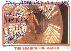 Star Wars – Quand Mark Hamill signait des autographes hilarants sur des cartes à collectionner