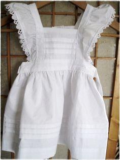 White pinafore dress toddler