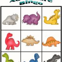 #8 of 10 Printable Dino Adventure Bingo cards - BE CAREFUL just to print! don't download software - Printable Bingo - Free Printable Games