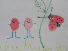 thumbprint lady bug for our science unit!:-)