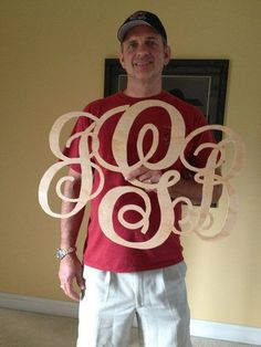 First Scroll saw projects-Monograms