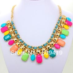 2013 New Arrival Fashion Gold Chunky Choker BIb Statement Necklaces for women KK SC073 Retail-in Choker Necklaces from Jewelry on Aliexpress.com
