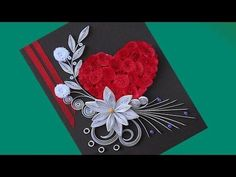 ☑️paper quilling card ❤Beautiful Quilling 3D flower quilling greeting cards Paper Quilling Art - YouTube
