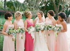 Bridesmaids in Pink | photography by http://justindemutiisphotography.com/