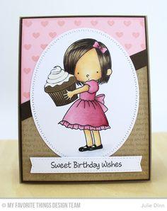Handmade card from Julie Dinn featuring Sweet Birthday Wishes stamp set from Birdie Brown.