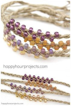 DIY Easiest Braided Bead Friendship Bracelet Ever Tutorial from Happy Hour Projects. Ive posted other bracelets like this and if you can braid three strands you can easily do this DIY. How much do I love bracelets? For over 75 pages of DIY bracelets go here: truebluemeandyou.tumblr.com/tagged/bracelet and for friendship bracelets go here: truebluemeandyou.tumblr.com/tagged/friendship