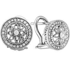 Vintage-style + stud earrings = two favorite trends in one