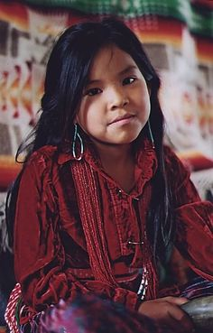 Girl of the Lumbee Tuscarora tribe from North Carolina. Such a sweetie!