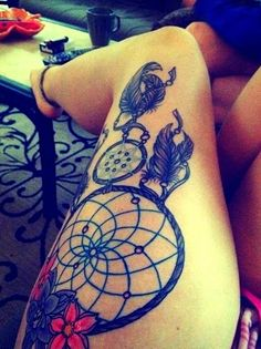 Sexy Thigh Tattoo Designs and Ideas for Girls21