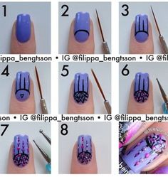 Gr8 dream catcher nail art..... It makes me feel dreamy