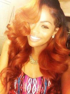 Balayage Dip Dye 8A Remy Dip Dye Ombre Balayage Human Invisible Hair Extensions…