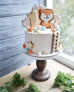 Boys 1st Birthday Party Ideas, Happy Birthday Baby, Baby Birthday Cakes, Baby Boy Cakes, Cakes For Boys, Baby Shower Cakes, Bolo Floral, Cake Models, Woodland Cake