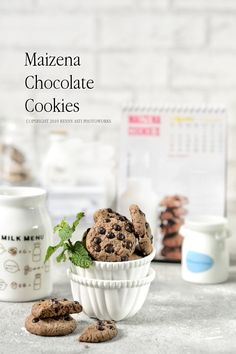 Chocolate Covered Bananas Frozen, Chocolate Cookies, Cake Cookies, Food Styling, Photography Ideas, Biscuits, Cereal, Menu, Drink