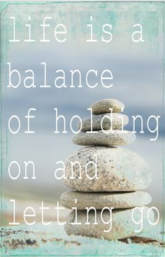 life is a balance Photo Motivational Nature Meditation Vintage Style Rocks Beach