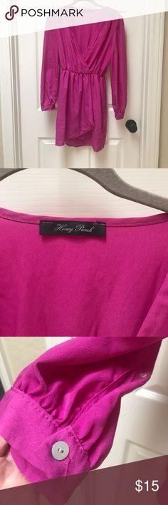 Magenta pink honey punch dress Vivid magenta vneck dress. Honey Punch Dresses