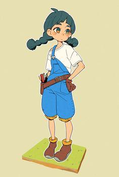 Girl by monionium on DeviantArt Character Design Challenge, Character Design Girl, Character Design References, Character Design Inspiration, Character Concept, Character Art, Anime Chibi, Anime Art, Character Illustration