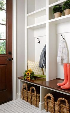 Build your own DIY mudroom storage unit using this easy tutorial. Add functional and beautiful furniture to your home for a fraction of the price. & Build your own DIY mudroom storage unit using this easy tutorial ...