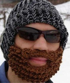 Plenty funny as a gag or stunt, this fake beard face warmer & stocking cap does also keep you warm!