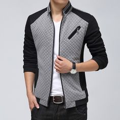 Cheap jacket fur collar, Buy Quality jacket collar names directly from China jacket warmer Suppliers: 2015 Spring New Men Jacket Fashion Dot Stitching Cotton Coat Man Korean Slim Fit Casual Men's Outdoor Jack Young Adult Fashion, Mein Style, Spring Jackets, Winter Jackets, Jacket Style, Jacket Men, Bomber Jacket, Cool Outfits, Men Casual