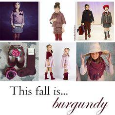 granate tendencia moda infantil otoño invierno