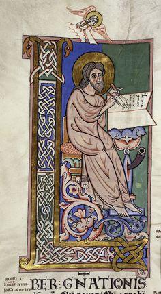 Saint Matthieu Bible de Worms, Allemagne, 3ème quart du XIIe siècle, British Library