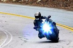 """Scar, on his 2008 Hayabusa, """"Wasabi,"""" dispelling the myth that the Hayabusa is a """"single-trajectory"""" rocket on CA State Route Roads, Darth Vader, Fictional Characters, Road Routes, Street, Fantasy Characters"""
