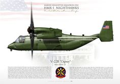 """UNITED STATES MARINE CORPSMARINE HELICOPTER SQUADRON ONE (HMX-1) """"Nighthawks"""" V-22B """"Osprey"""""""