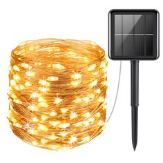 AMIR Solar Powered String Lights 100 LED Copper Wire Lights Starry Lights Fairy Lights Indoor/Outdoor Waterproof Solar Decoration Lights for Gardens Home Dancing Party Christmas Warm White Lighting Lighting Lights Solar Fairy Lights, Solar Led String Lights, Outdoor Fairy Lights, String Lights Outdoor, Outdoor Lighting, Lighting Ideas, Light String, Solar Powered Lights, Solar Lights For Garden