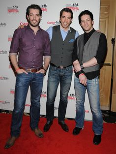 2013 - Jonathon Scott, Drew Scott and J.D. Jonathon (Left) & Drew (middle). These two cute bros star in Property Brothers. I think Jonathon is the cutest. If he was my contractor, I would search for things for him to do.
