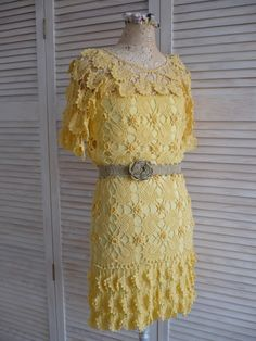 Dress crochet by Vanessa Montoro. Парижанка по мотивам Ванессы Монторо, хлопок, кр. № 2.
