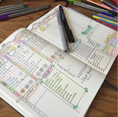 Check out these bullet journal weekly spread ideas for the key to help you setup your own bujo. Let these examples of other's doodles be your inspiration! Bullet Journal Décoration, Bullet Journal Banners, Bullet Journal Spread, Bullet Journal Layout, My Journal, Bullet Journal Inspiration, Journal Pages, Journal Ideas, Bullet Journal Time Tracker
