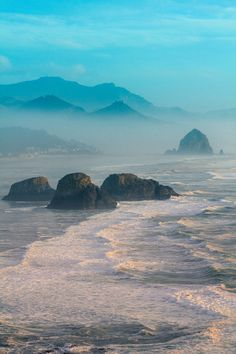 ~~The blue and the sea...   the Oregon coastline is truly stunning, Cannon Beach, Oregon   by Sally Good~~