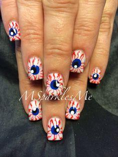 Eyeballs nails #halloween #nailart #spooky
