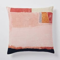 Gallery Abstract Pillow Cover - Peach Blush #westelm