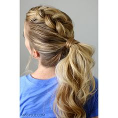 Dutch Mohawk Ponytail ❤ liked on Polyvore featuring accessories and hair accessories