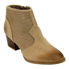 C LABEL AD69 Women's Perforated Side Zipper Block Heel Ankle Booties >>> Read more reviews of the product by visiting the link on the image.